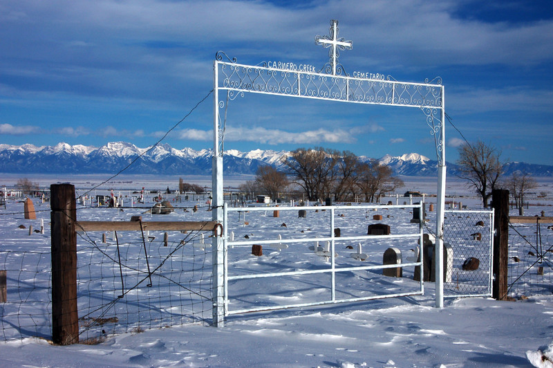Near La Garita Mission in Saquache County with the Sangre De Cristo Mountains