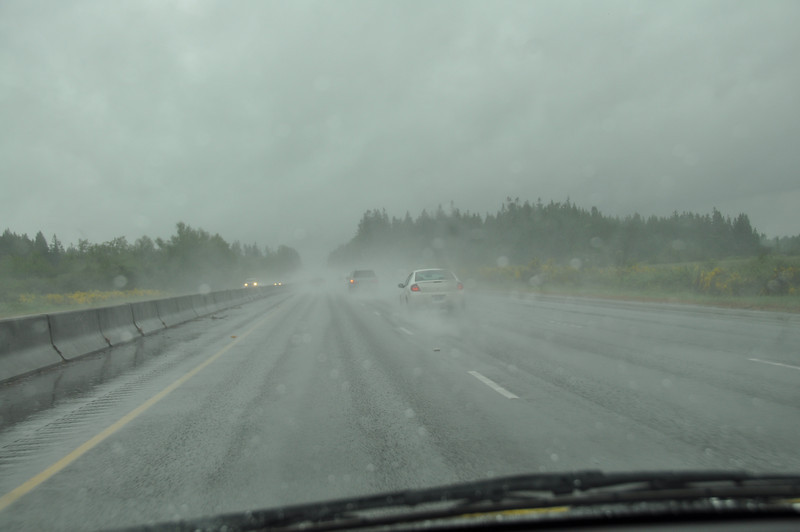 Convincing rain most of the way south to Oregon