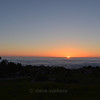 Sunset over the cloud-covered Pacific Ocean off of Rancho Palos Verdes.