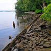 remnants of the Gillette's Castle railroad along the banks of the Connecticut River.  Only visible at low tide.