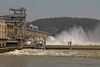 Sluice gates open on Conowingo Dam