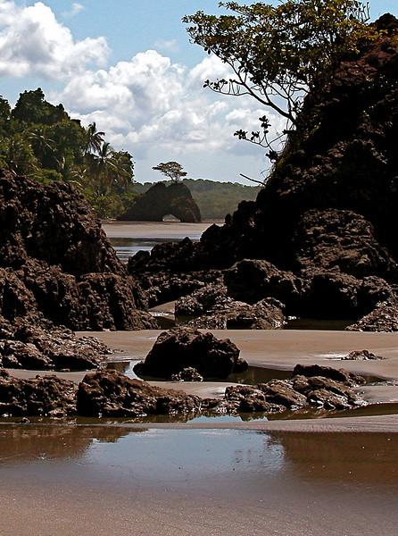 View looking to the south at Playa Llorona, Corcovado Naitonal Park, Osa Peninsula, Costa Rica