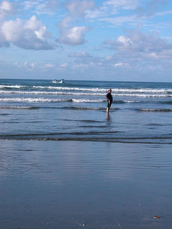 Flat beach and surf, Playa Llorona, Corcovado National Park, Costa Rica