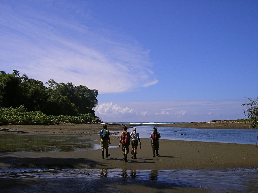 Approaching the mouth of the Rio Sirena, Corcovado National Park, Osa Peninsula, Costa Rica