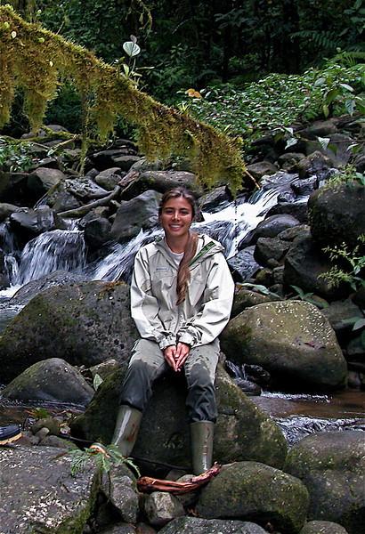 Ramsa in the stream at Alberto Manuel Brenes Biological Reserve