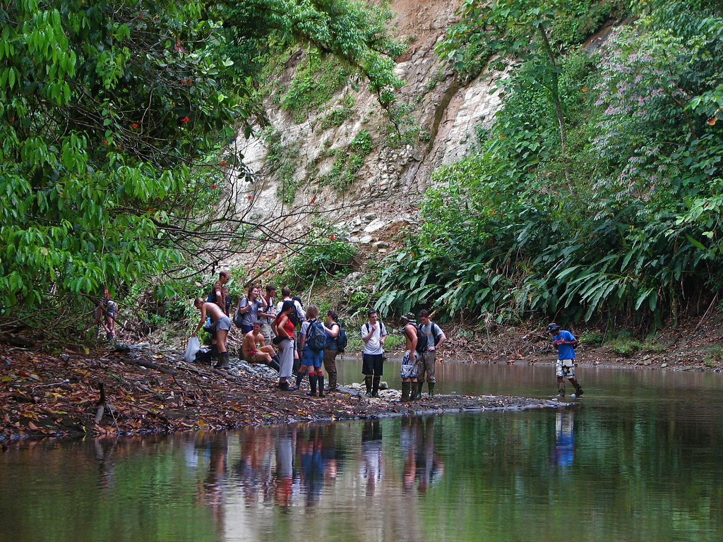 Preparing to take a dip in a nice swimming hole on the Rio Claro, Corcovado National Park, Costa Rica.
