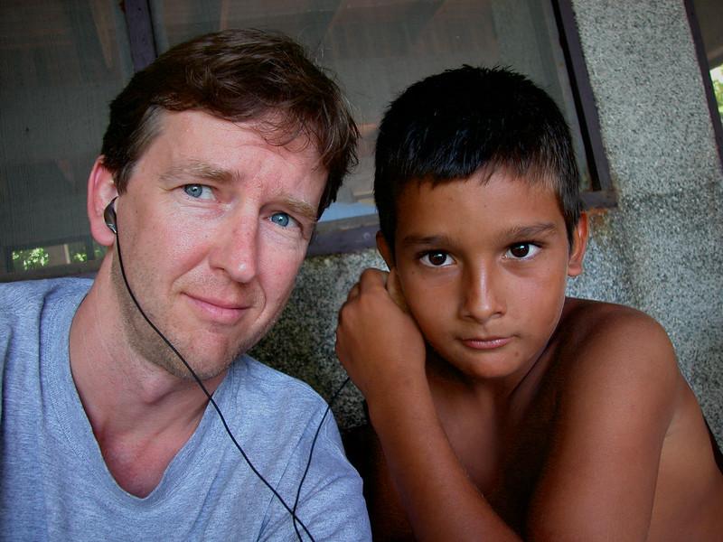 Sharing music with Cristian at Campanario, Osa Peninsula, Costa Rica.