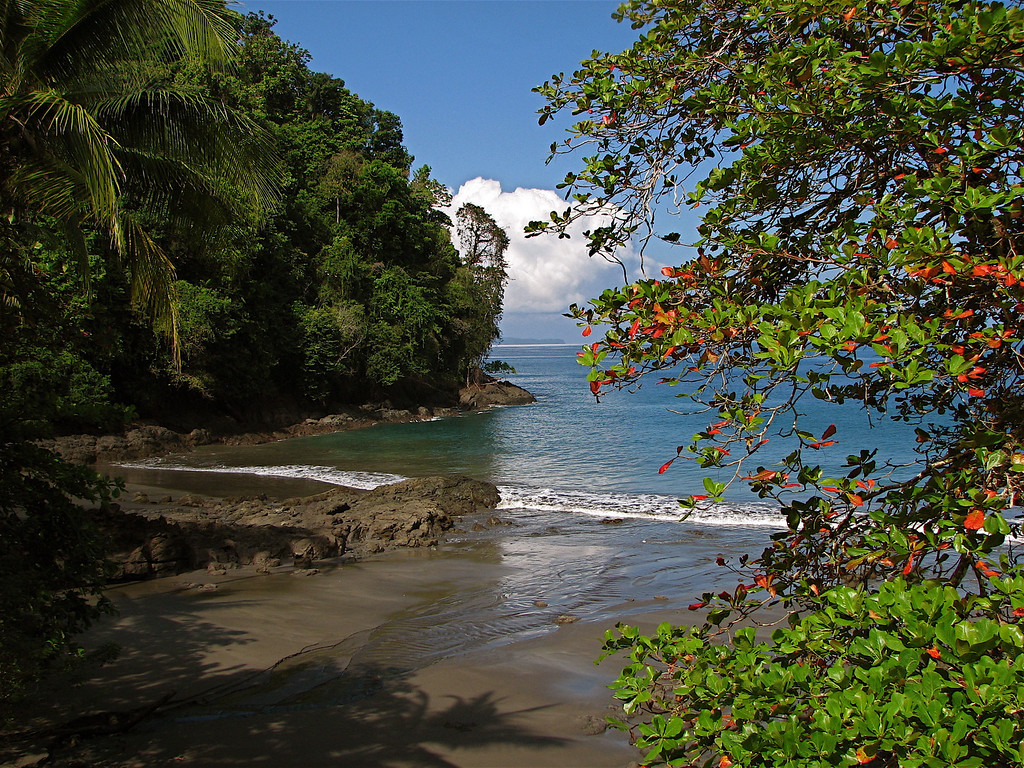 The beach at Campanario, Osa Peninsula, Costa Rica