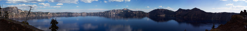 Northern Crater Lake Rim seen from Wizard Island