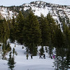 Crater Lake snowshoeing