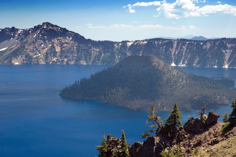 Crater Lake Wizard Island looking toward the southeast, taken from Merriam Point near the North Entrance of Rim Drive.<br /> ND70_2006-07-26DSC_6006-CraterLakeWizardIsland-2 copy.jpg