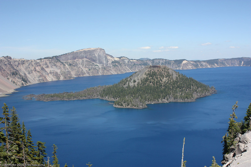 Wizard Island from Discovery Point, Crater Lake National Park, Oregon