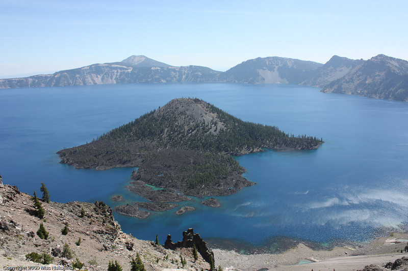 Crater Lake and Wizard Island from Watchman Overlook, Crater Lake National Park, Oregon