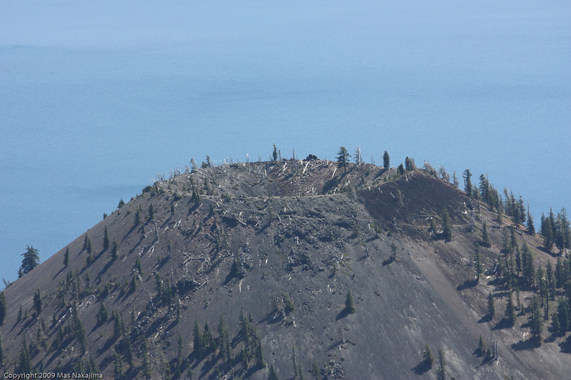 Close up of Wizard Island from The Watchman, Crater Lake National Park, Oregon<br /> <br /> The last eruption was 5000 years ago.