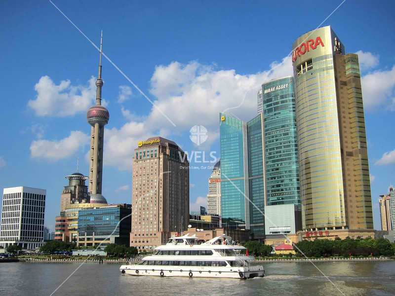 View of Pudong waterfront, Shanghai by kstellick
