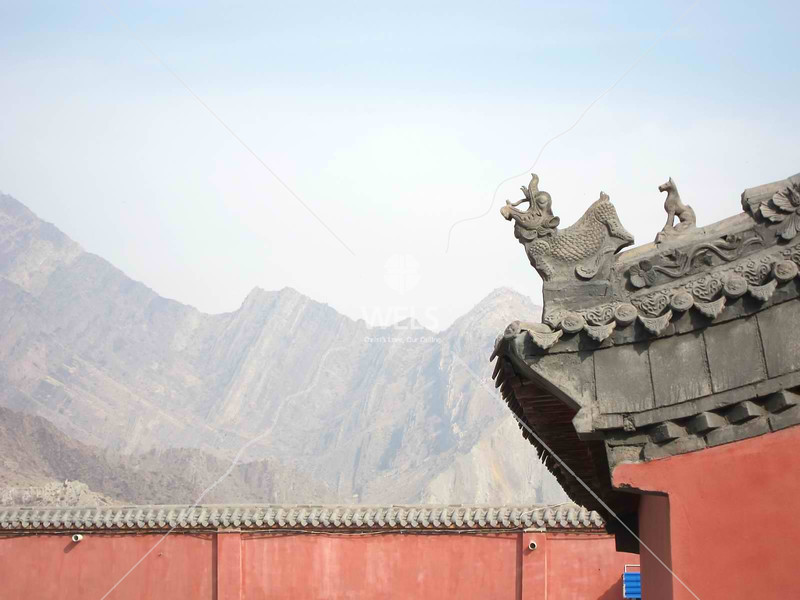 Temple Peaks in Ningxia Dawukou China by kstellick