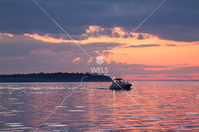 Boat Returning at Sunset by mspriggs