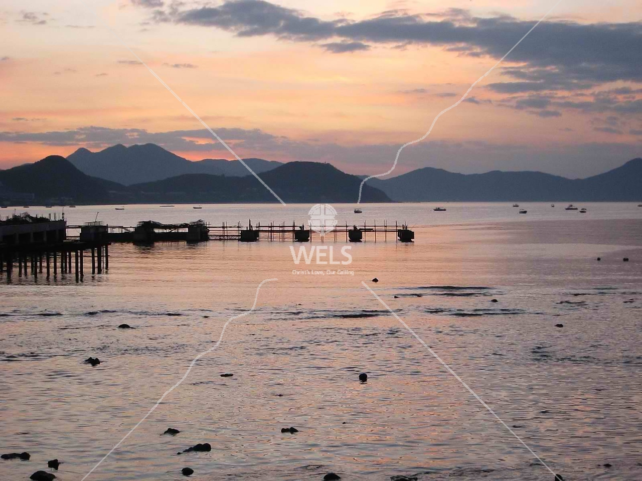 Calm Water at Sunrise, Sanya, Hainan China by kstellick