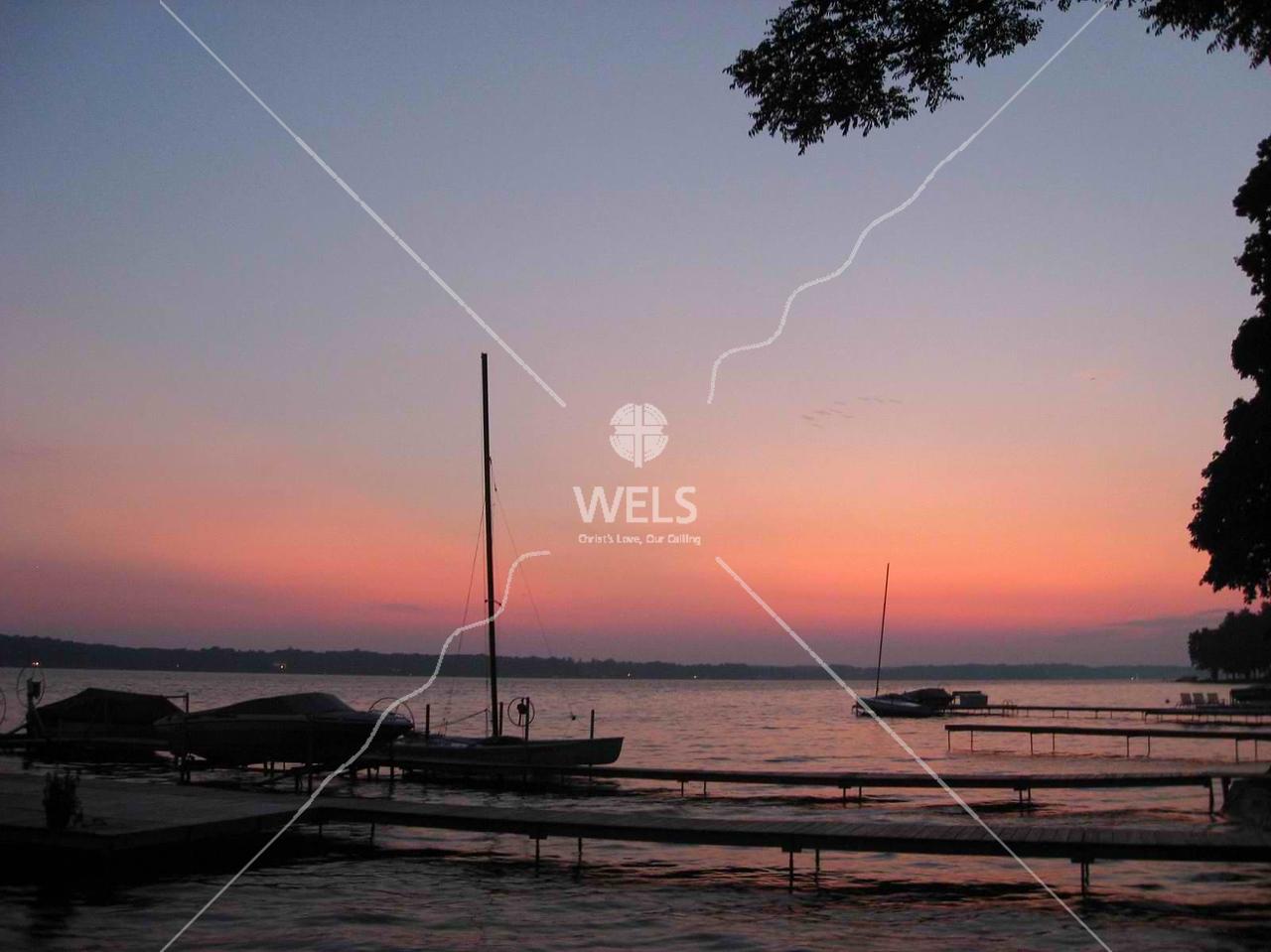 Sunset over Gull Lake, Michigan by kstellick