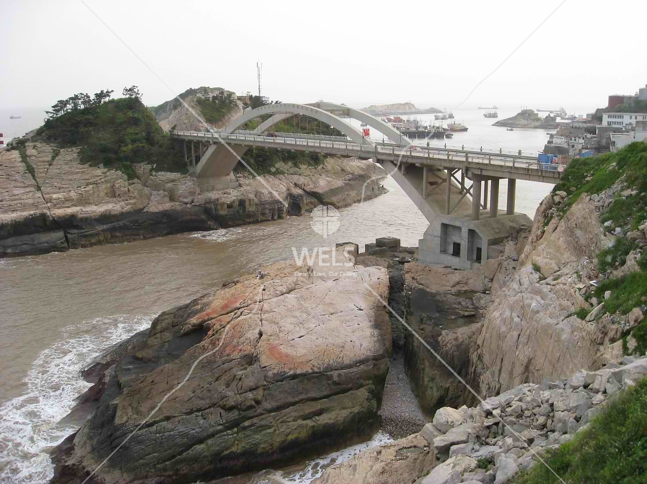 Bridge near fishing harbor SE China by kstellick