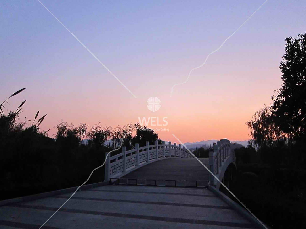 Sunset bridge in Wenling China by kstellick