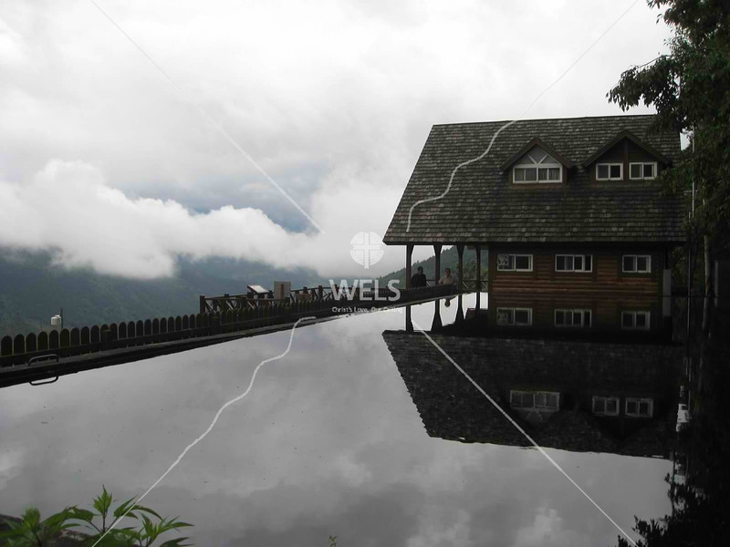 Reflecting pool at trailhead of Snow Mountain, Taiwan by kstellick