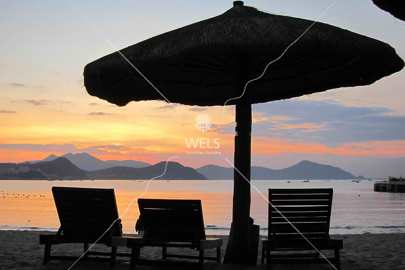 Bayside seating to watch sunrise, Sanya, Hainan China by kstellick