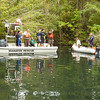 Manatee is located swimming near Cutler Spur Road. Ivan and Keith prepare to deploy the rescue net.