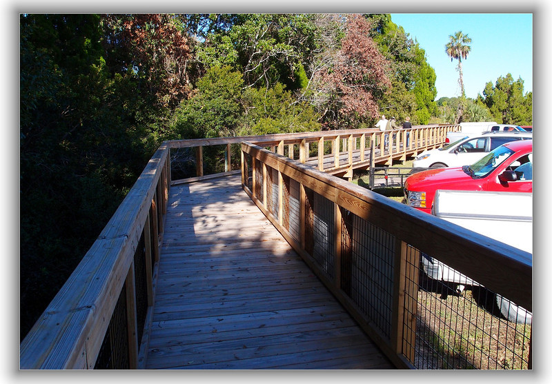 New boardwalk at Three Sisters Spring