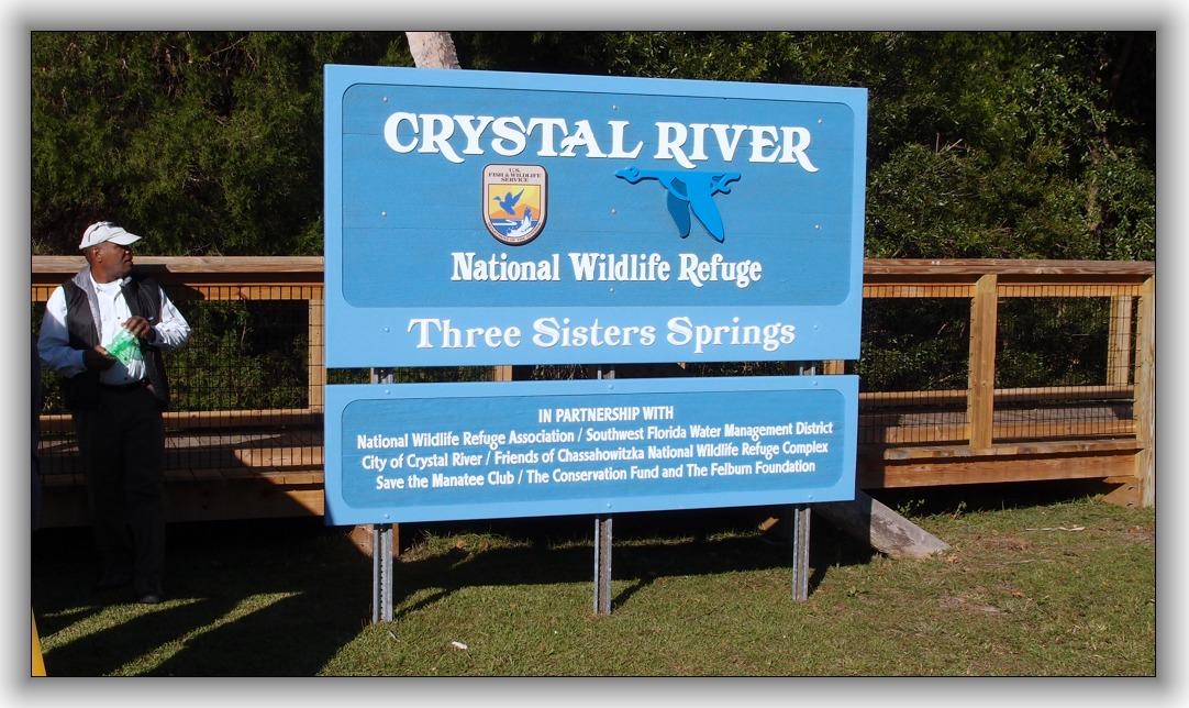 New signage at Three Sisters Spring