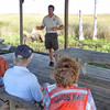 Ivan Vicente, Public Use Specialist, discussing Refuge ecology with volunteers