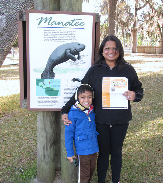 Peyton and Sherrill visited the Refuge to see manatees