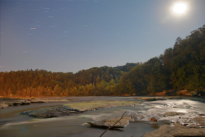 Approx 7 minute exposure at midnight over Cumberland Falls KY