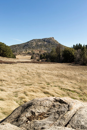 Stonewall Peak from the valley between Cuyamaca and Middle Peak.  I always consider this to be the center point of the northern section of the park because if you become familiar with it's shape, distinct from each angle, it is impossible to get truly lost.