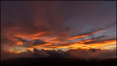 A race to catch the sunset colors before the 'fog clouds' rising over the Cuyamaca/Laguna area obscured everything.