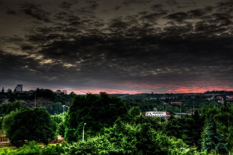 HDR foto - pohled na Barrandovské terasy