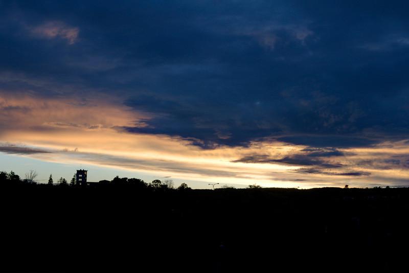 Exposure Fusion Foto - pohled na barrandovské terasy za soumraku