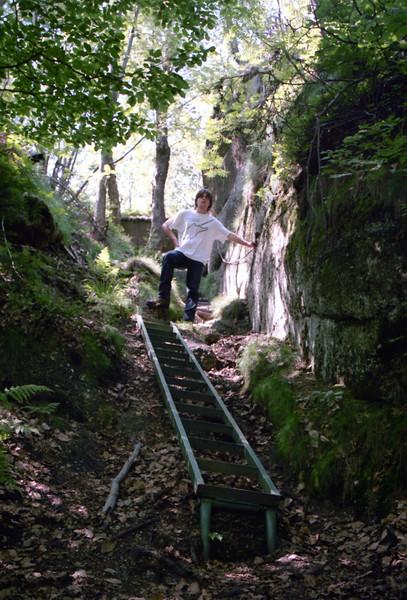 stoupání na Špičák v západní části Jizerských hor