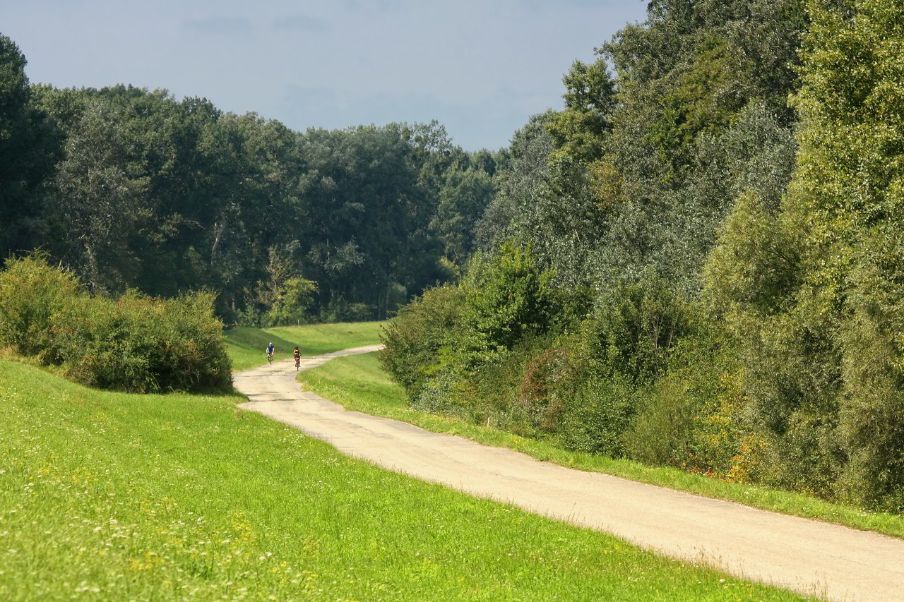 EuroVelo Route 6 between Vienna and Bratislava (as part of the Atlantic - Black Sea route).