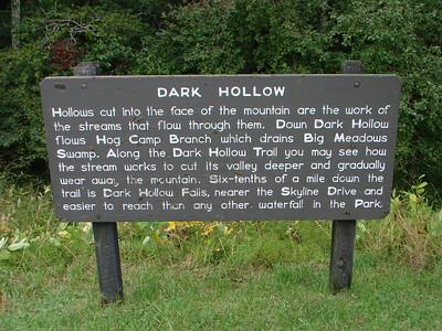 Dark Hollow Falls Shenandoah National Park 2011-09