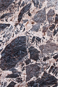 Breccia, Titus Canyon.  Height of area shown is around two feet.
