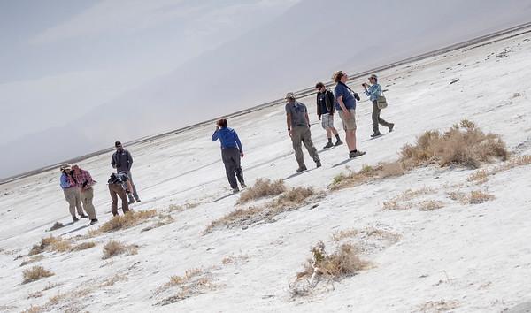 Windy salt flat