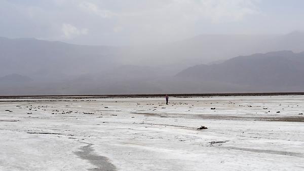 Alone on the salt flat