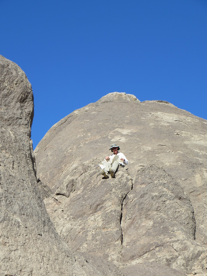 Michèle decided to take some photos of me perched up on the rocks of The Grandstand.