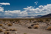 A view of the Eureka Dunes.  The dunes are the small bit on the left.  We are still many miles away.