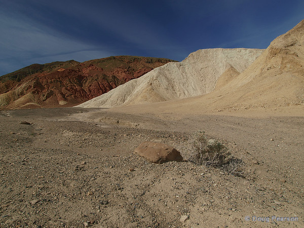 A view from Twenty Mule Team Canyon in Death Valley National Park