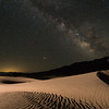 Milky Way over the Mesquite Flat Sand Dunes in Death Valley National Park