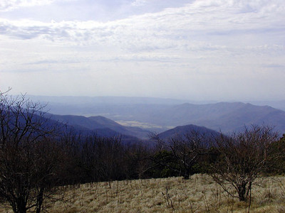 Cades Cove as seen from atop Thunderhead Mountain GSMNP  April 23, 2007