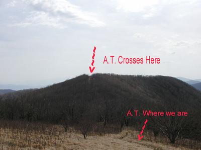The Appalachian Trail crosses Thunderhead Mountain here. <br /> GSMNP<br /> April 2007