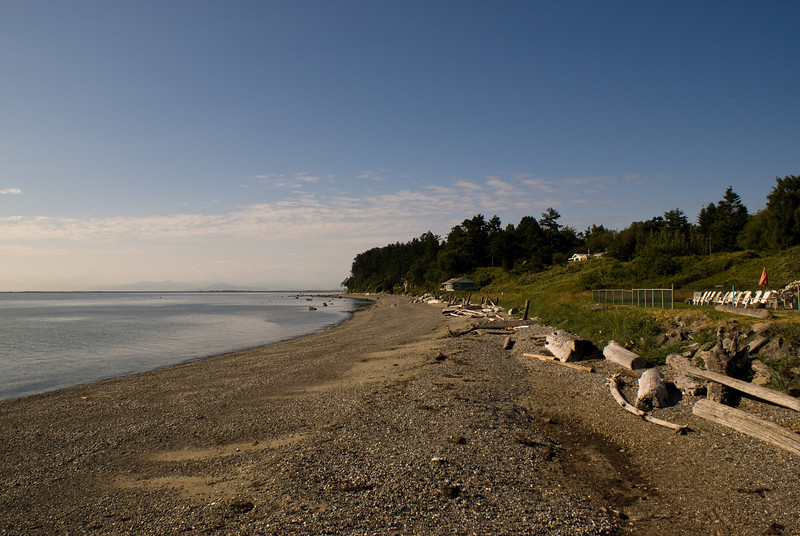 Point Roberts looking North towards Tsawwassen Beach